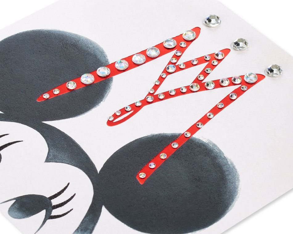 Minnie With Crown Blank Friendship Greeting Card