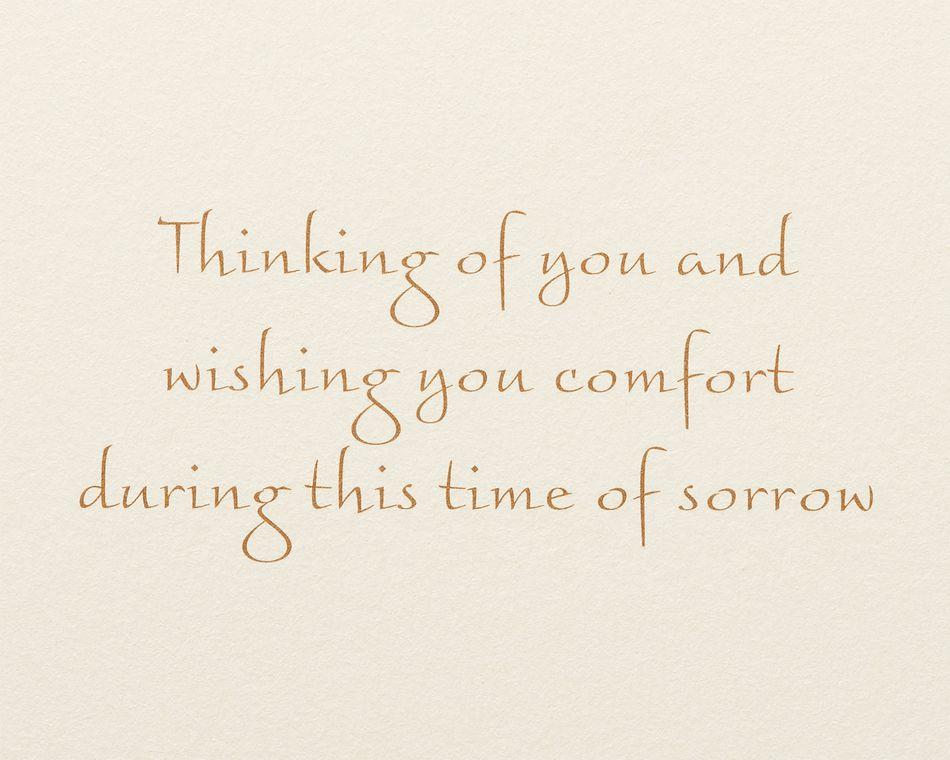 Thinking of You Sympathy Greeting Card