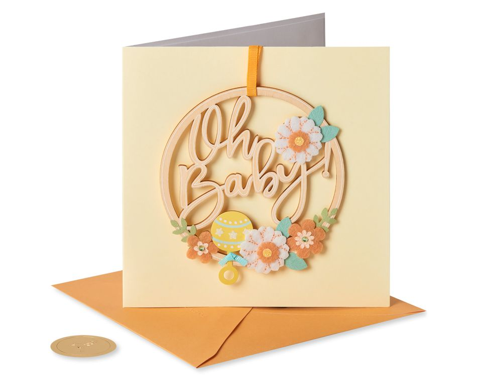 Oh Baby New Baby Greeting Card