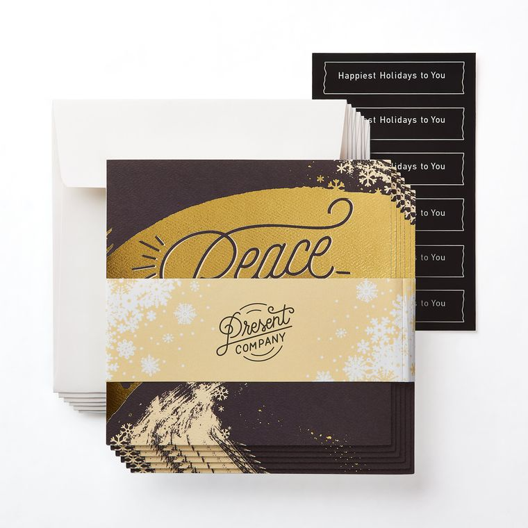 Peace Greeting Card, 6-Count - Christmas, Happy Holidays, Happy New Year, Hanukkah