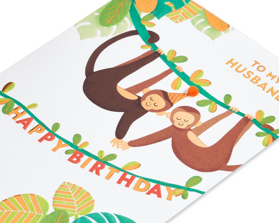 Monkey Around Birthday Greeting Card