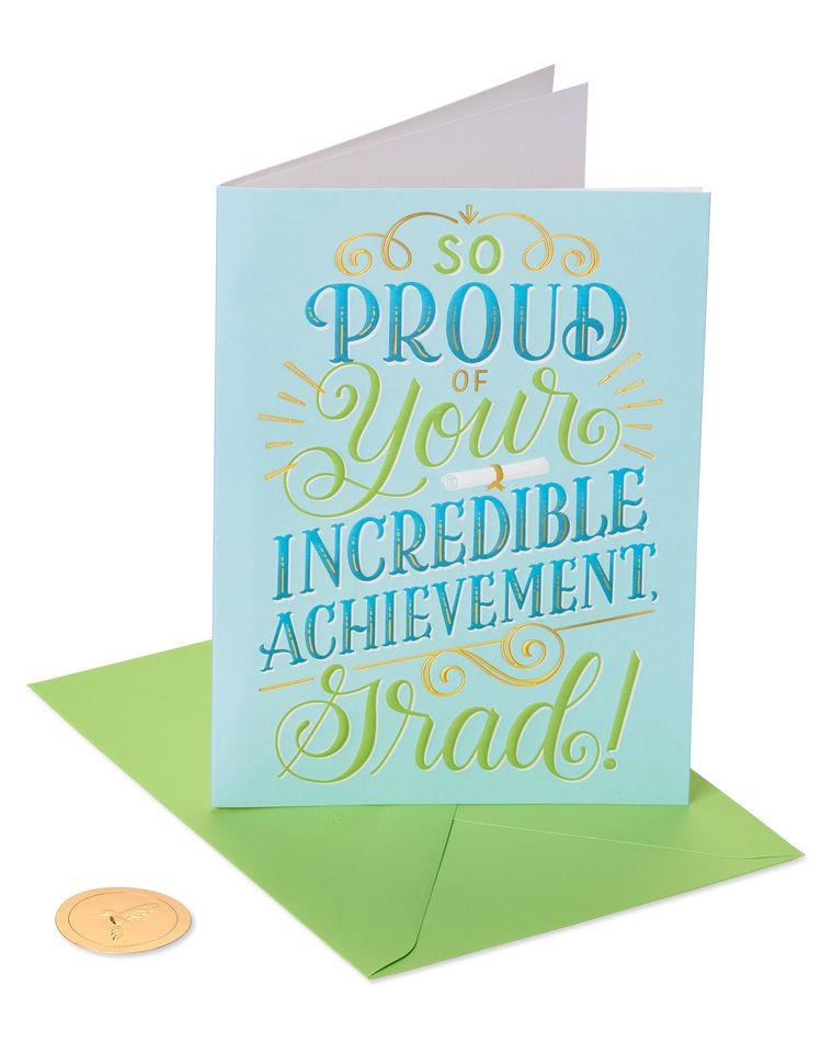 Incredible Achievement Graduation Greeting Card