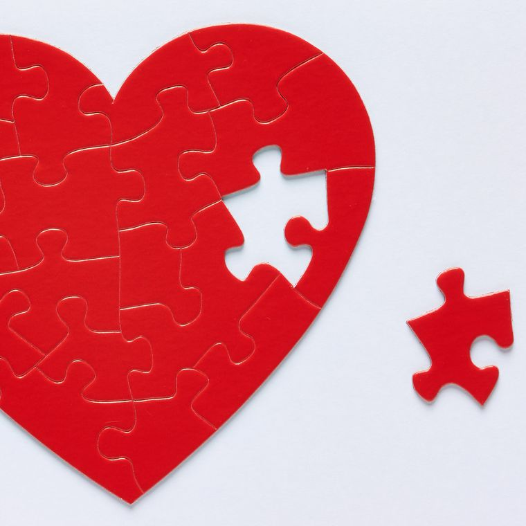 Heart Puzzle Valentine's Day Greeting Card