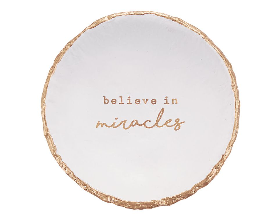 Mud Pie 'Believe In Miracles' Trinket Dish