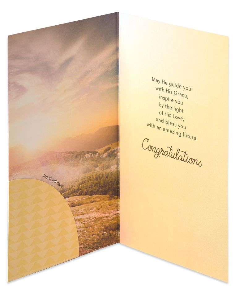 Religious Money and Gift Card Holder Graduation Card
