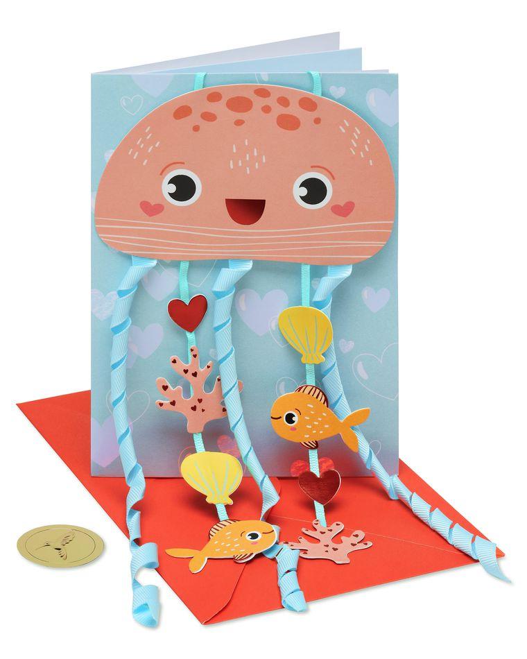 Jellyfish Valentine's Day Greeting Card