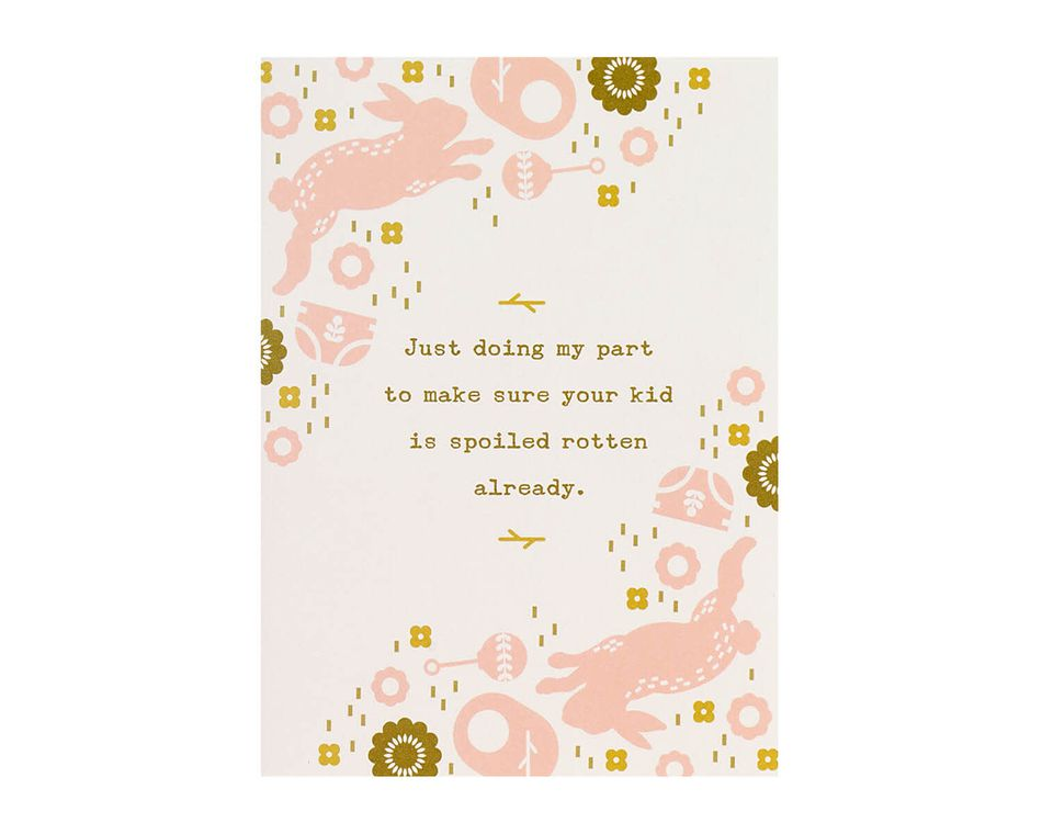 Spoiled Rotten Already Baby Shower Card