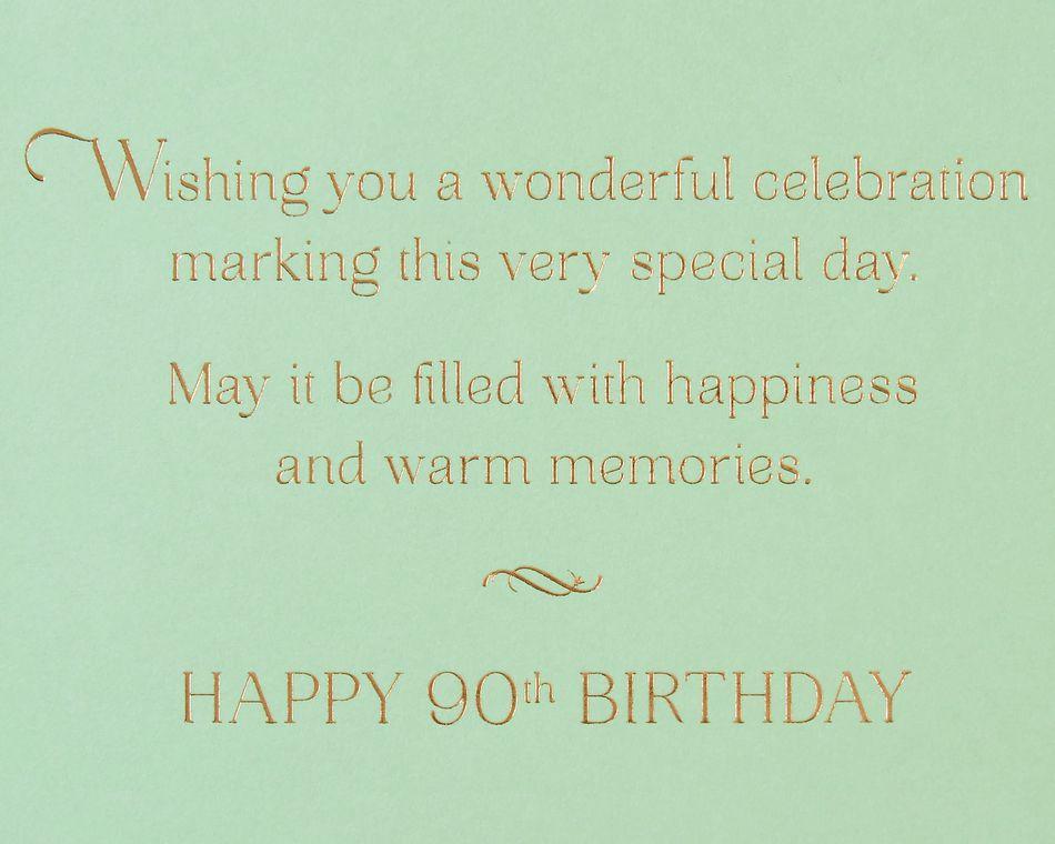 Warm Memories 90th Birthday Greeting Card