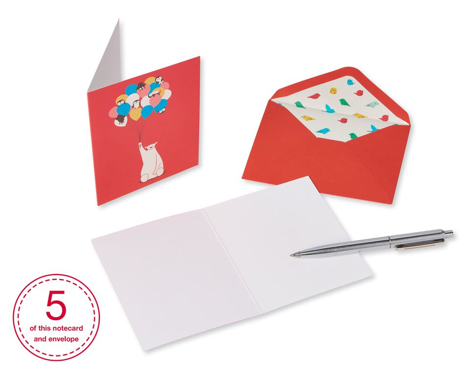 Animal Friends Boxed Cards and Envelopes, 20-Count