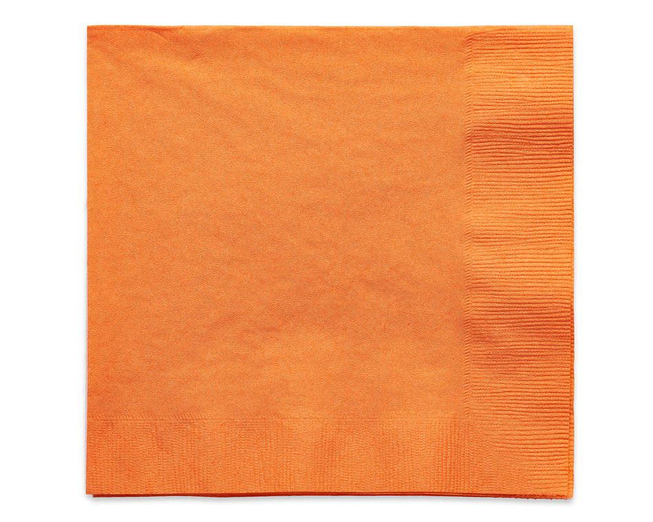 orange lunch napkins 50 ct