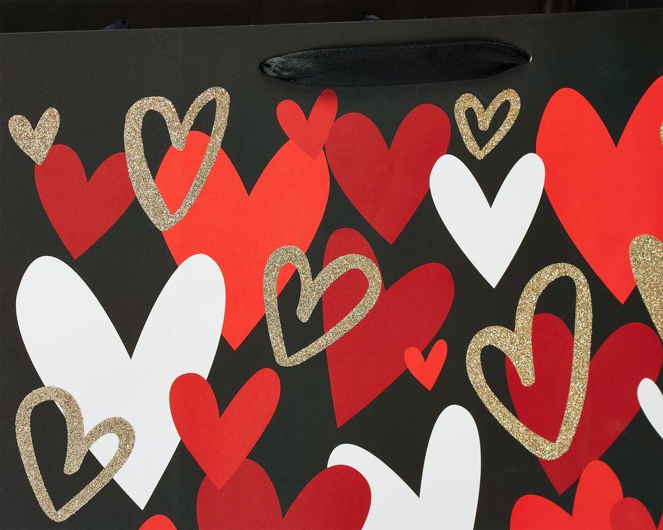 Medium Multicolored Hearts Gift Bag