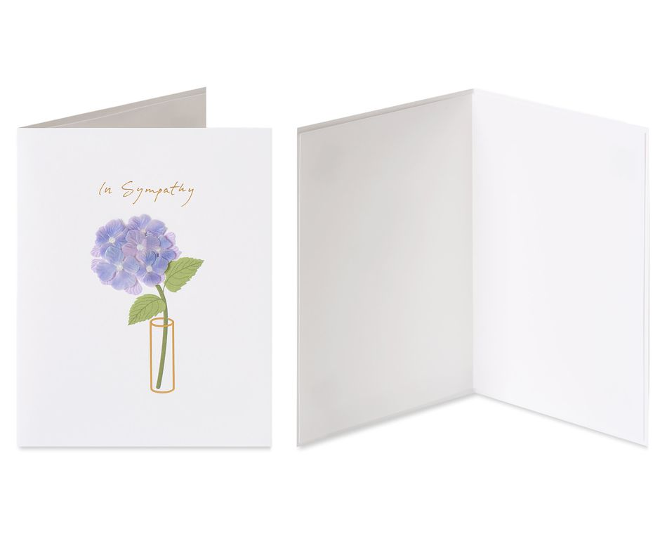 Vase and Peace Sympathy Greeting Card Bundle, 2-Count