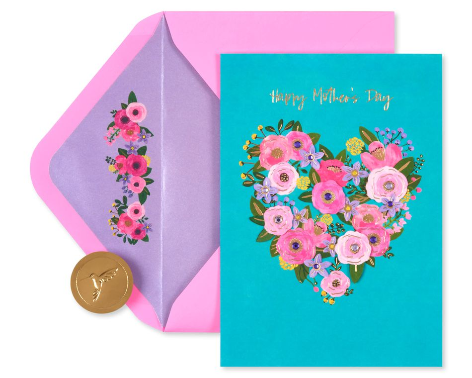 Floral Heart Mother's Day Card