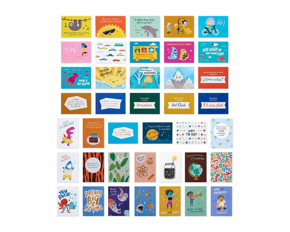 Learning is Fun Lunch Box Mini Notes, 40-Count