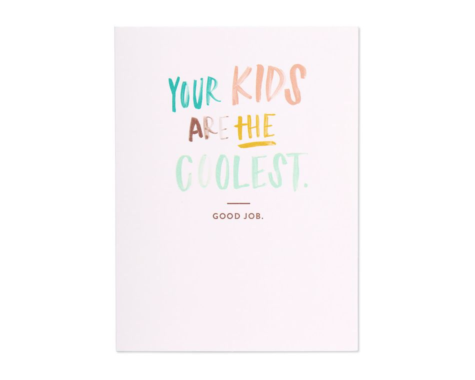 coolest kids mother's day card