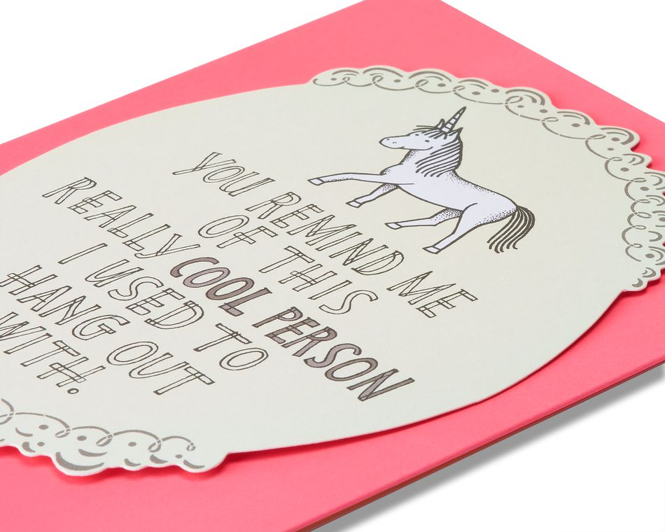unicorn miss you card