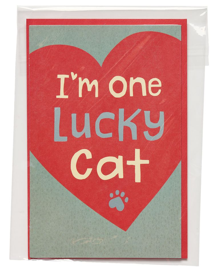 Lucky Cat Valentine's Day Card