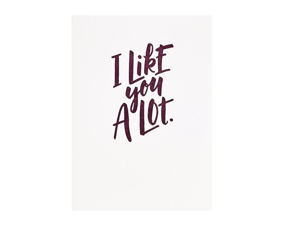 Like You A Lot Romantic Card