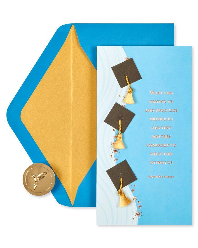 Graduation Caps Graduation Greeting Card