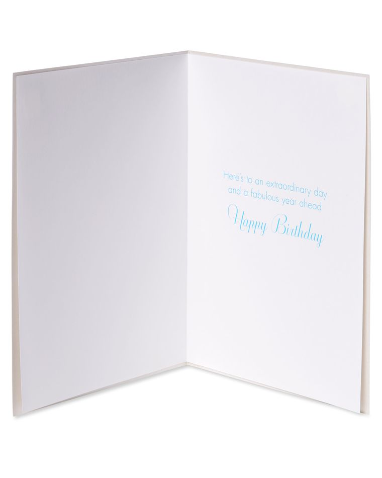 Paillette Balloons Birthday Greeting Card