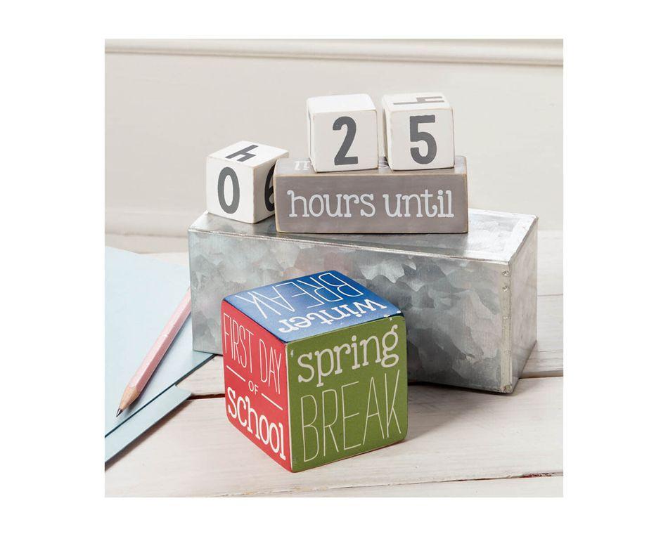 Mud Pie Teacher Break Countdown Blocks