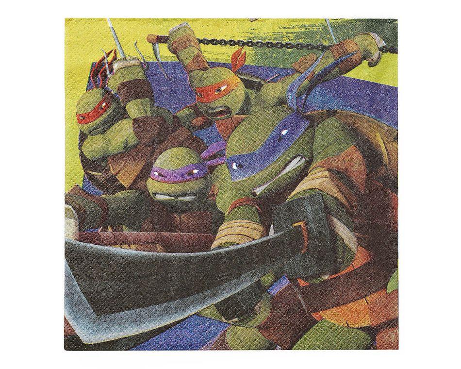 teenage mutant ninja turtles lunch napkins 16 ct