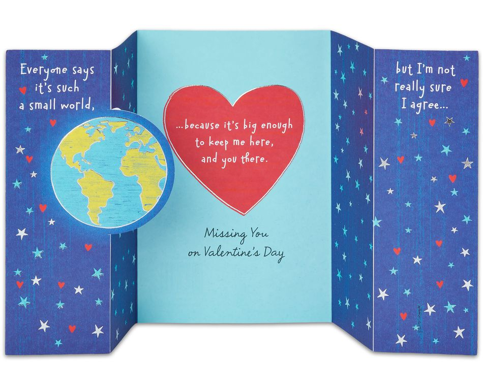 Across the Miles Valentine's Day Card