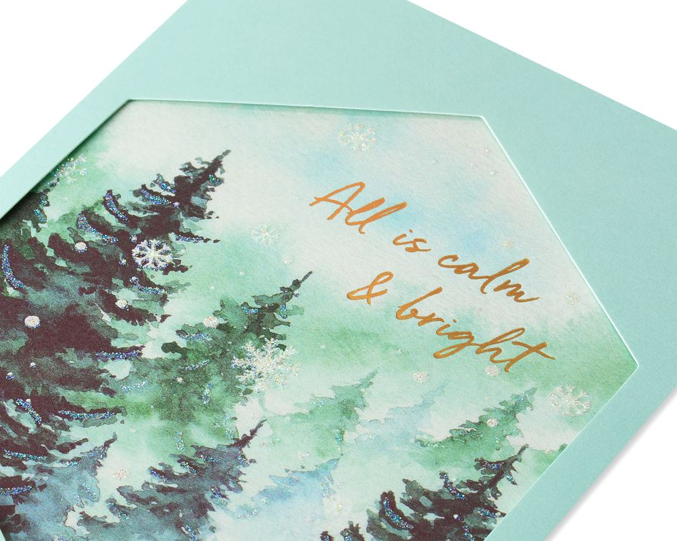 Calm and Bright Christmas Greeting Card