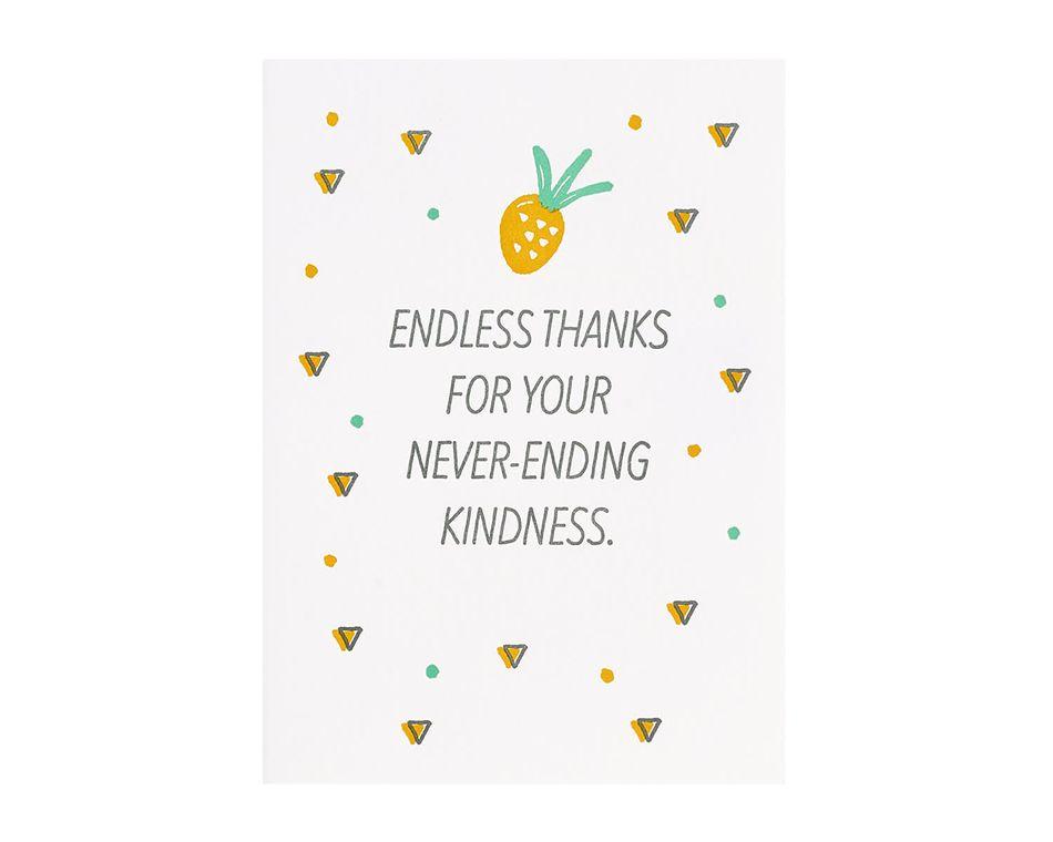 Never Ending Thank You Card