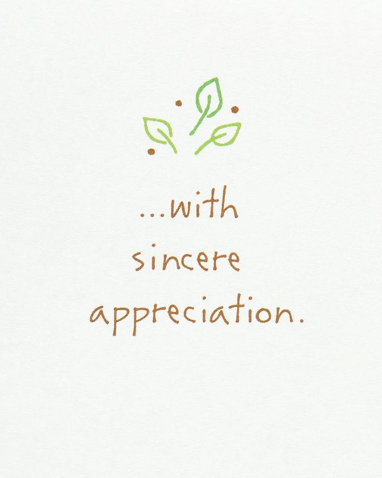 Kathy Davis Sincere Appreciation Thank You Card