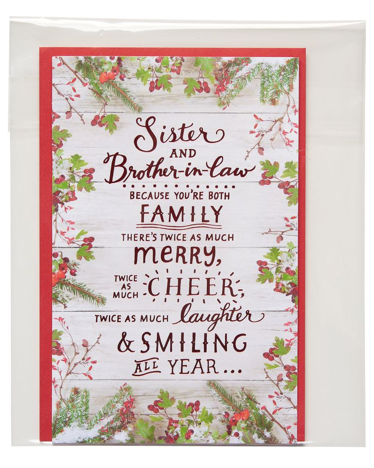 Christmas Card for Sister and Brother-in-Law