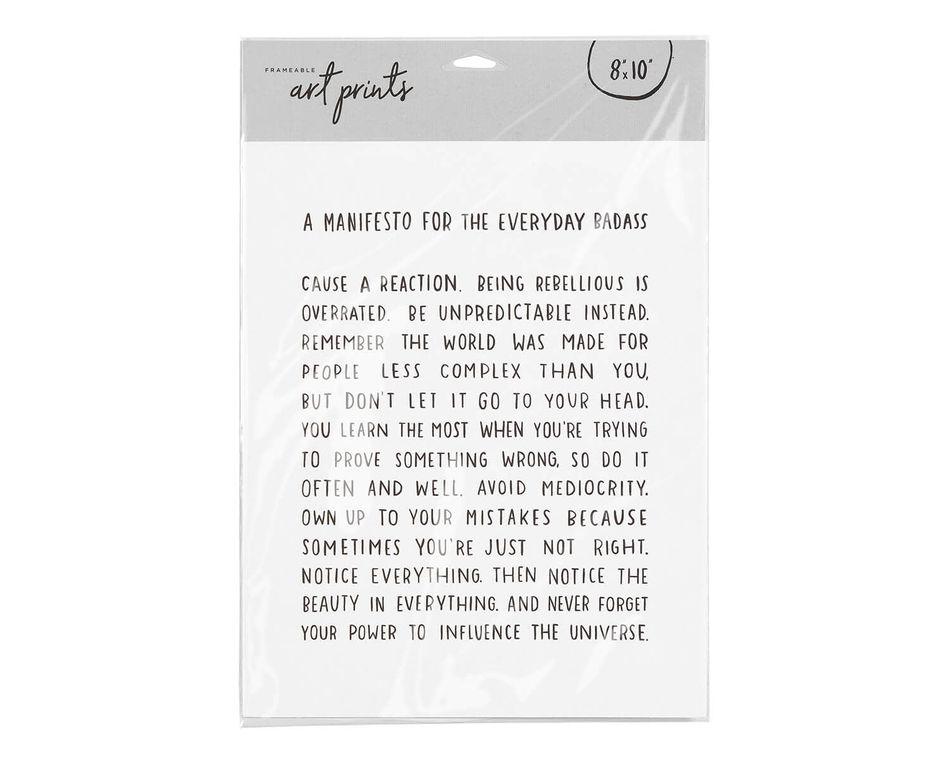 Everyday Manifesto Frameable Art Print, 8 in. x 10 in.