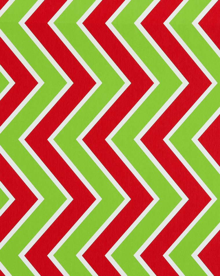 Christmas Wrapping Paper, Green and White Snowflakes, 'Merry Christmas' Lettering, and Chevron, 3-Roll Pack