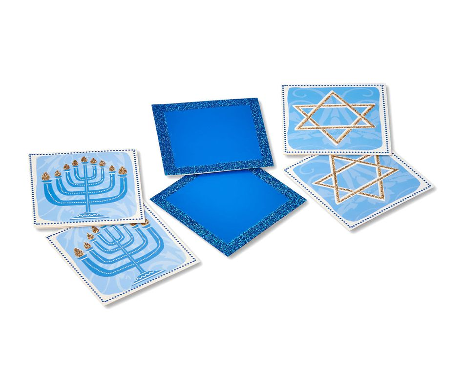 assorted hanukkah gift tags 6 ct