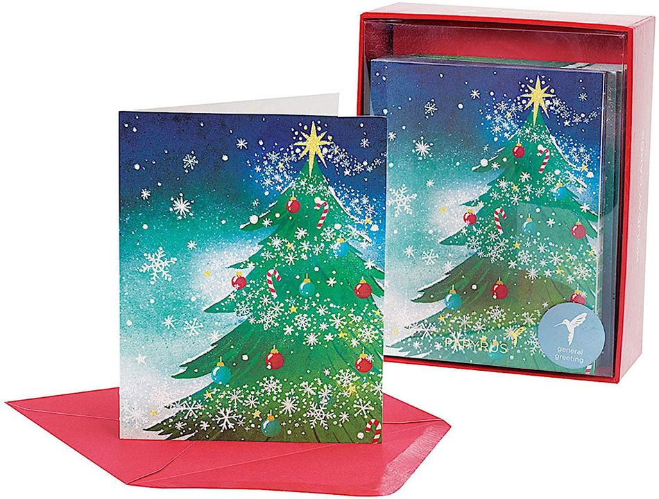 Mini Trees Holiday Boxed Cards, 20-Count