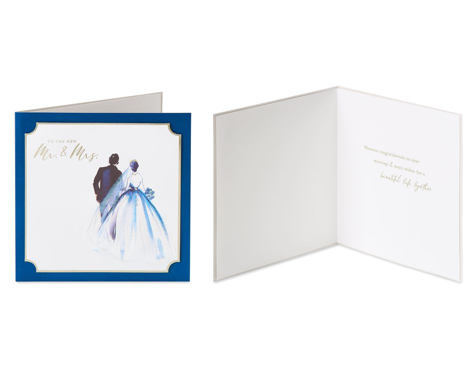 Congratulations Toast Wedding Greeting Card Bundle, 2-Count