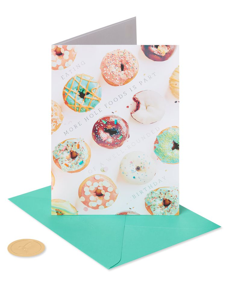 Eat Hole Foods Funny Birthday Greeting Card