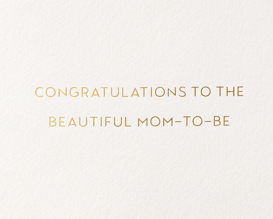 Mom To Be Bump New Baby Greeting Card