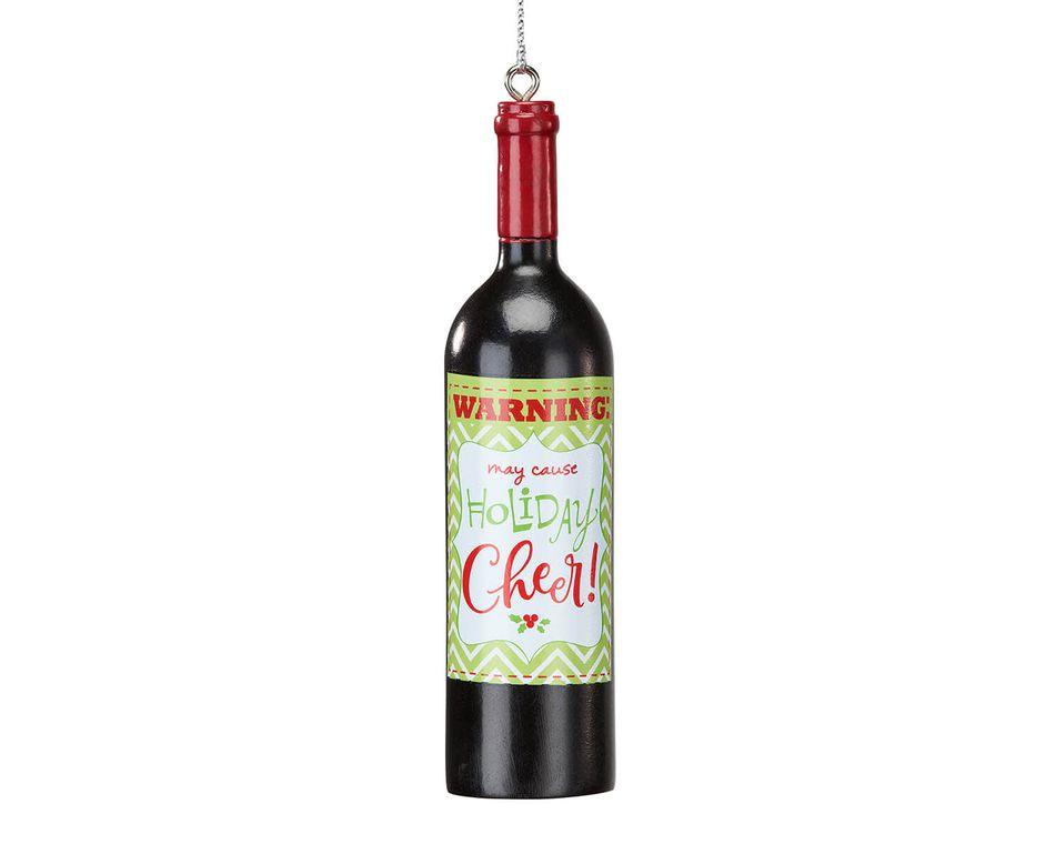 Wine Bottle Christmas Ornament