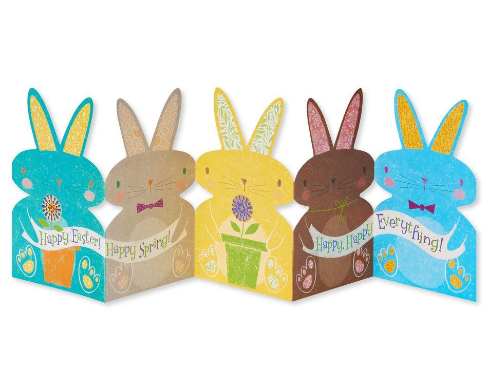 Blue Bunny Easter Card