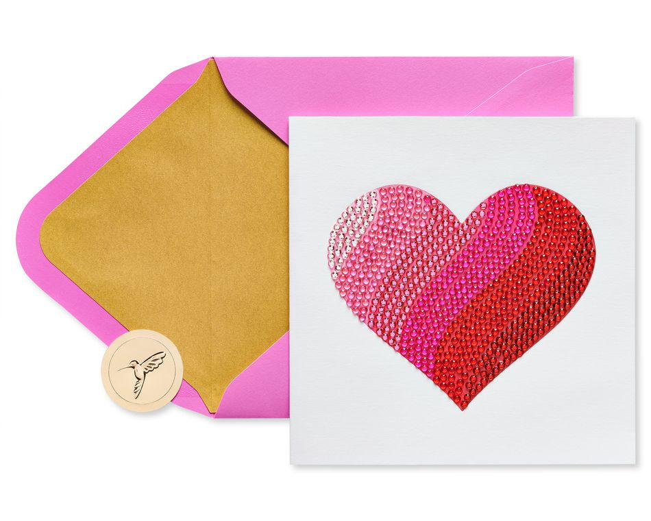 Gemmed Heart Valentine's Day Greeting Card