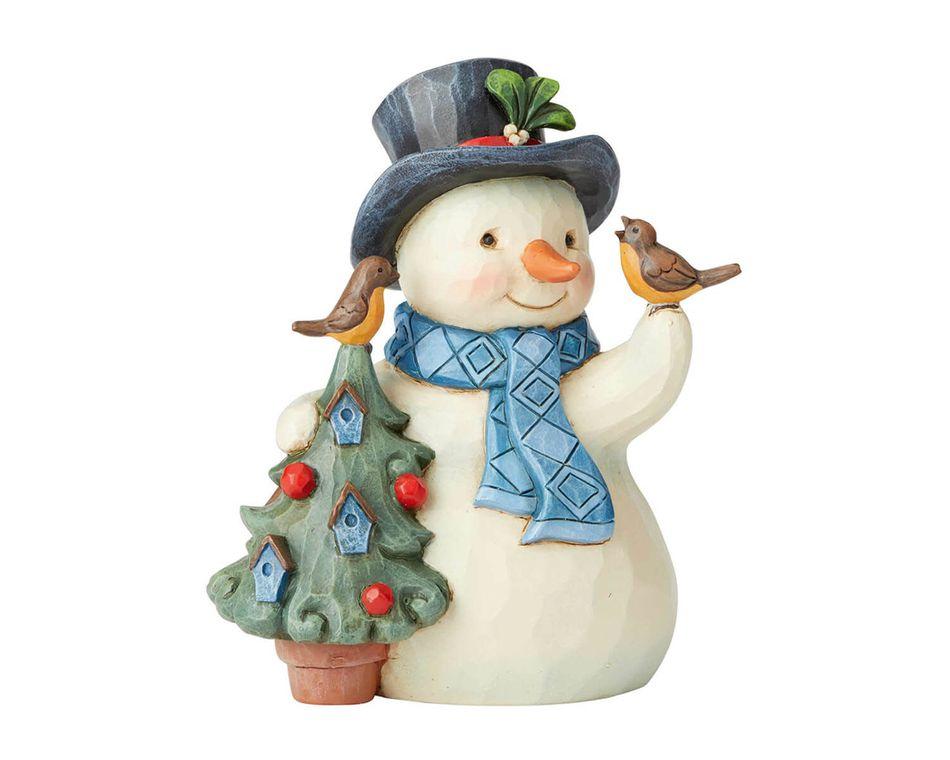 Jim Shore Snowman with Birdhouse Figurine