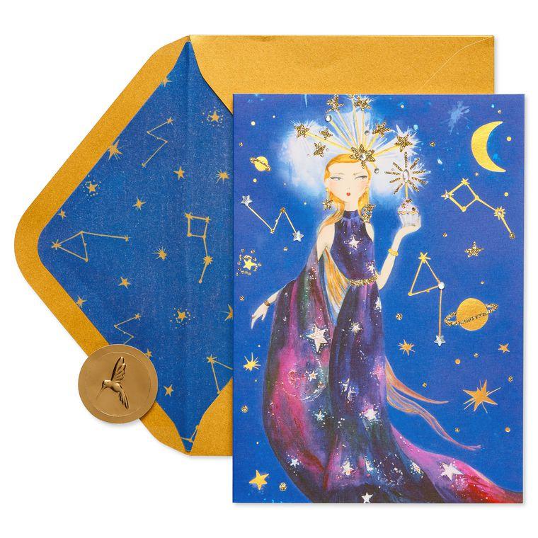 Celestial Girl Birthday Greeting Card