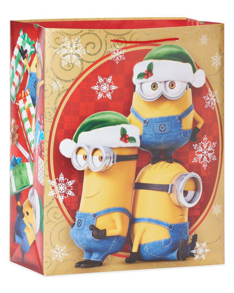 Minions Large Christmas Gift Bag