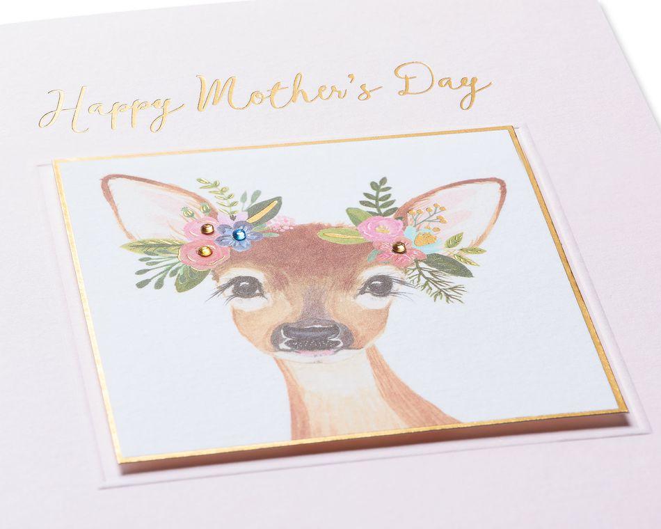 Boho Deer Mother's Day Card