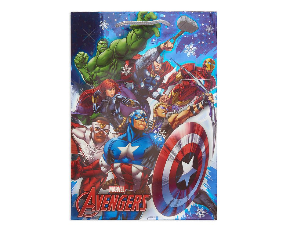 medium avengers christmas gift bag