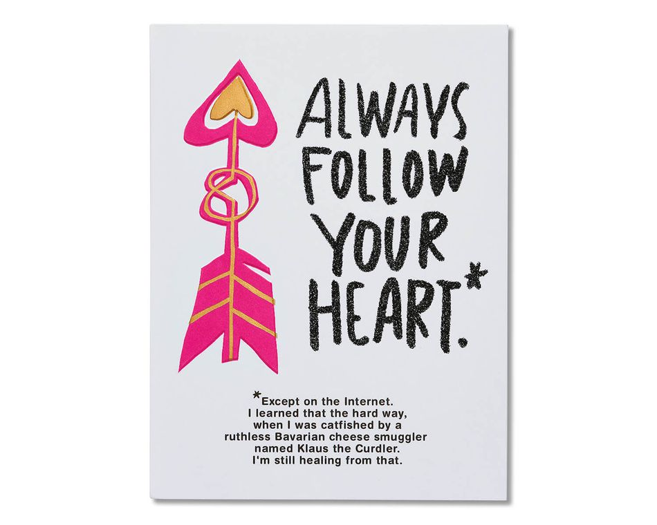 Funny Follow Your Heart Valentine's Day Card