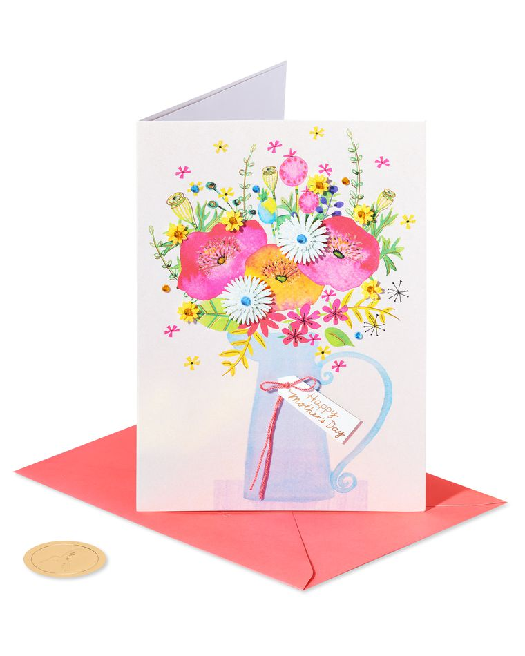 Floral Carafe Mother's Day Card