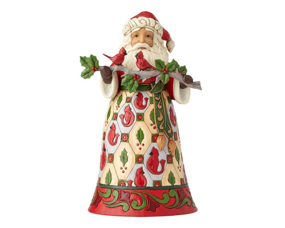 Jim Shore Cardinal Santa Claus Figurine