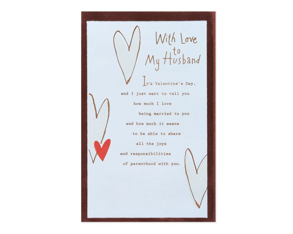 With Love Valentine's Day Card for Husband